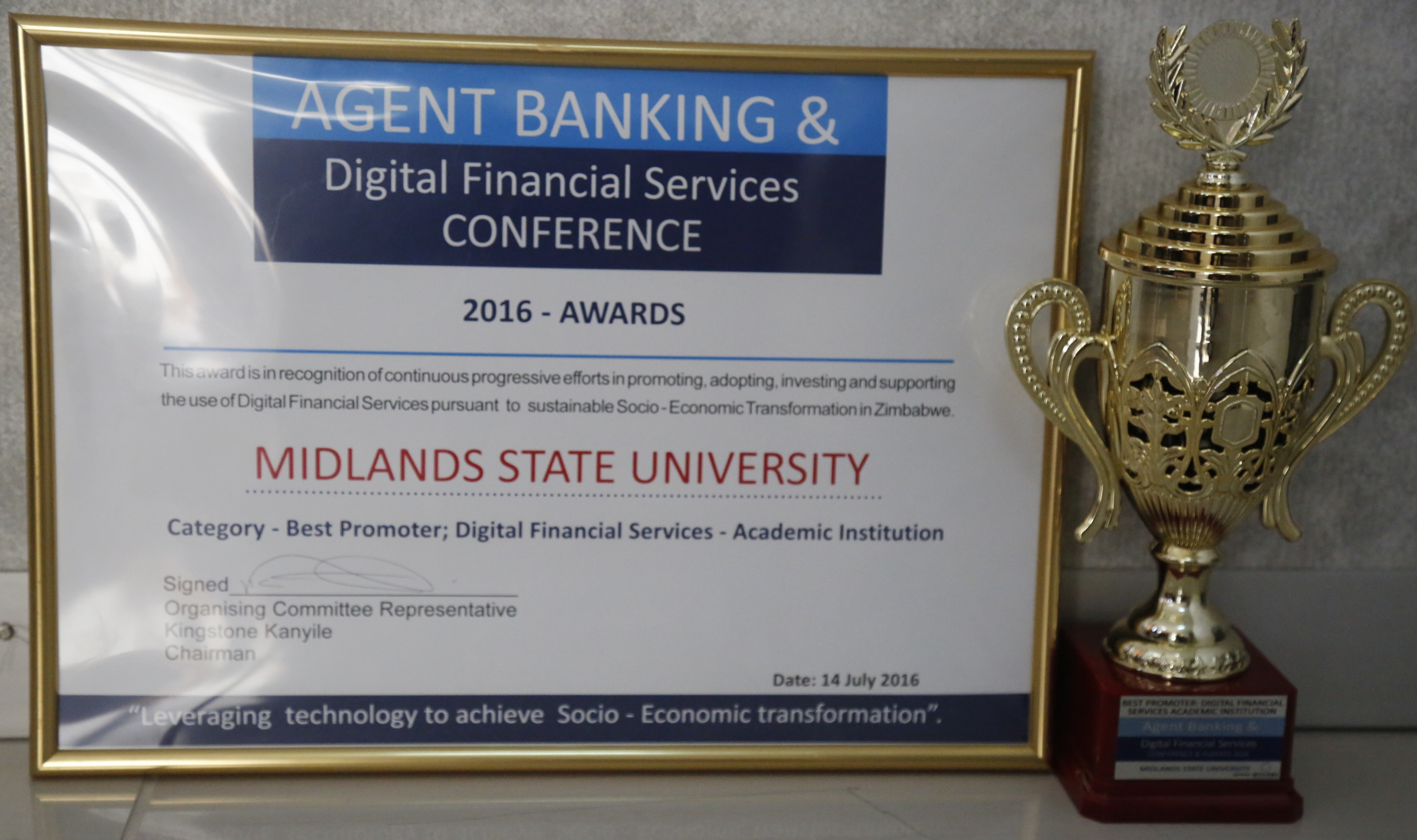 MSU Receives Award For Digital Financial Services Innovation